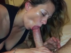 Sexy wife sucking cock...