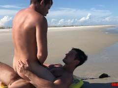 Colby Chambers and Mickey Knox Fuck BAREBACK on a Beach