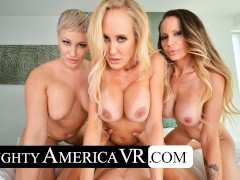 naughty america three hotties bang their own son in vr