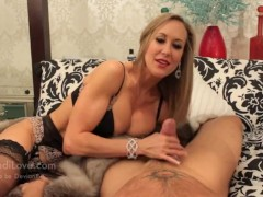 Brandi Love - Milf Brandi love stroking cock for new fur coat