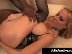 Hot Busty Cougar Julia Ann Gets Her Butt Violated By 4 Big Black Dicks!