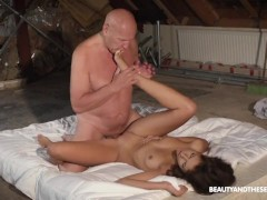 Bunny Love Shows Old Hugo What Fresh Pussy Tastes Like