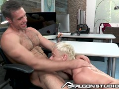 Cute Blonde Gets Fucked At The Office By Boss Daddy - FalconStudios
