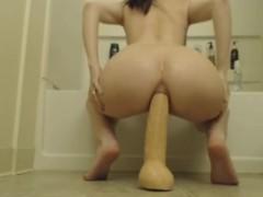 Incredible anal dildo riding milf!