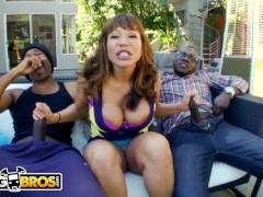 BANGBROS - Interracial Big Black Cock Threesome For Thicc Cougar Ava Devine