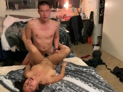 REAL KOREAN COLLEGE GF GETTING FUCKED IN HER ROOM