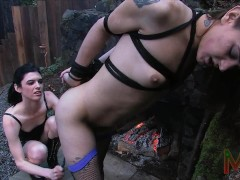 Trans Lesbian Domination. Bondage, electro anal and blow jobs.