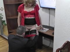 Office secretary. Boss fucks secretary and cumshot. Hidden camera office