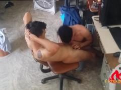tattoo straight latin boy being sucked after massage Hidde camarera