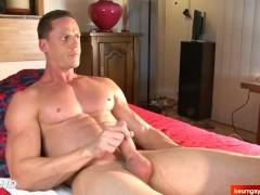 my beautiful neighbor made a porn where 2 guys massage his ass and big dick