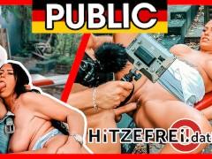 MILF ZARA MENDEZ fucked OUTDOOR in sunny Berlin! HITZEFREI.dating