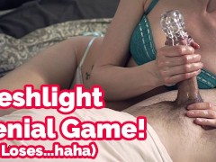 Don't say a word! Fleshlight cock tease, edging game & denial | Veronica
