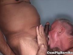 hairy mature bear enjoys dickriding his lover