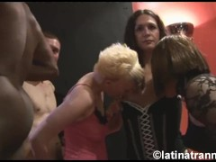 Nikki Montero, 1 crossdresser, 2 British female sluts and guys on a UK orgy