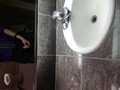 Super Hot Stud Shoots MASSIVE LOAD in Public Restroom