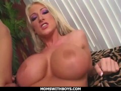 momswithboys - hot busty and beautiful mommy nadia hilton give big tit fuck