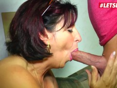 LETSDOEIT - Rough Sex For Busty German Mature With Her Lover