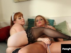 Red Nympho Nurse Penny Pax Finger & Tongue Fucks Hot Brooklyn Chase! Cured!