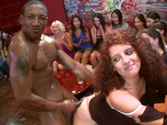 DANCING BEAR - Wild CFNM Orgy With Big Dick Male Strippers Slingin' Cock
