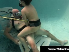 Hot Scuba Diving Carmen Valentina Sucks & Fucks Hard Cock Underwater!