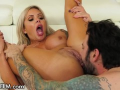 Nina Elle Blows BF When Hubby Is On The Phone & Squirts From Cheating