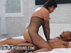Digital Playground - Fishnet milf India Summer loves younger black dick