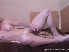 My masturbation after GYM - MUSCLE GIRL ANOUK