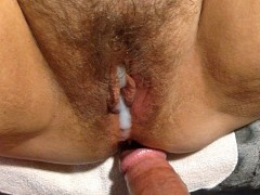 Creampie compilation with a couple bbw wife orgasms. Lots cum and wet pussy