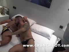 hot muscle bottom fucked hard bareback in jockstrap by straigth discret bu