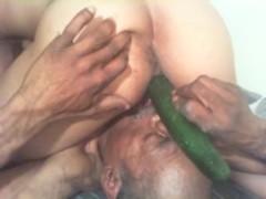 Oral + cucumbered till I cum + scream + moan