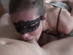 Brutal Gagging DeepThroat on the knees and huge Facial
