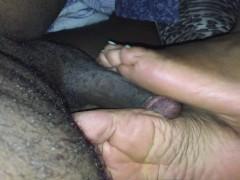 Quick foot job from BM