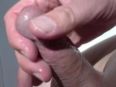 erotic penis massage close-up