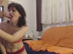 Real amateur milf wife loves to give a sloppy deepthroat blowjob