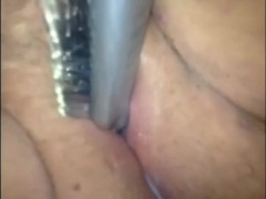 White Creamy Pussy With Hairbrush