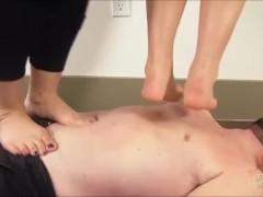 Aubrey Gold & Kimmy Lee trampling brattyfootgirls.com