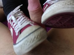 Shoejob by Converse Star Players with cum