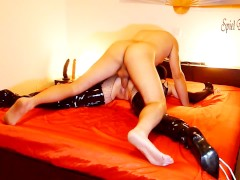 2.SPREAD EAGLE BONDAGED SLUT IN THIGH HIGH BOOTS - HARD RAMMING & WHIPPING