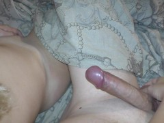 cross masturbating in bed with Ruined Orgasm
