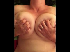 Fucking my wife hard with cum shot