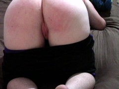 SPANKING MY GINGER BITCH'S ASS RED AND RAW ;)