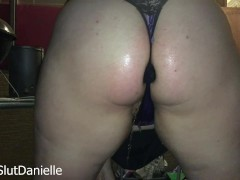 Danielle and Tiana play and pee outdoor together