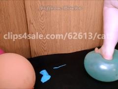 Bbw saffron burke steps on balloons till they pop