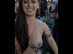 Going topless in public for my husband (Folsom St Fair)