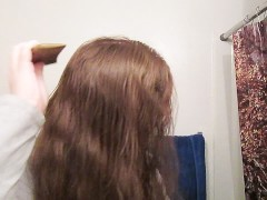 Hair Journal: Combing Long Curly Strawberry Blonde Hair - Week 9 (Asmr)