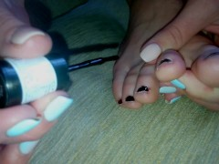 Ksenia s Foot Fetish - Painting Nails On My Sexy Feet