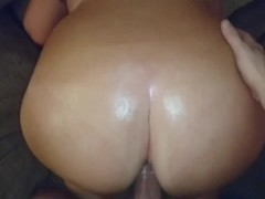 Rough ass fuck - big oiled butt and dick
