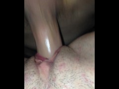 Big dick plowing squirting pussy from behind with her mom in next room.