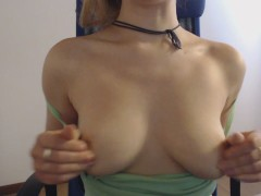 Tits without bra and nipples hard that passion