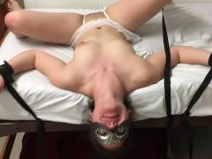 Teen amateur choked and fucked in college dorm during quiet hours
